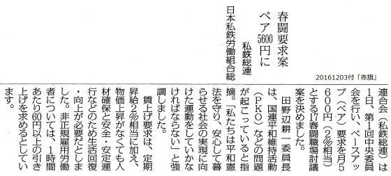 20161203春闘私鉄総連